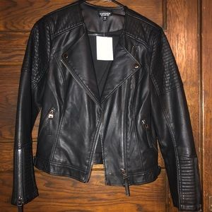 Top Shop Leather Moto Jacket